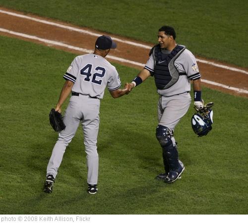 'Mariano Rivera and Jose Molina' photo (c) 2008, Keith Allison - license: http://creativecommons.org/licenses/by-sa/2.0/
