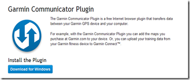 Versión Actual Del Plugin Garmin Communicator Plug-in