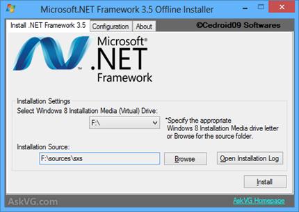 install .net framework 3.5 offline
