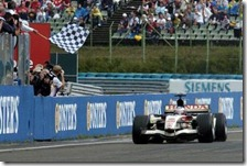 La vittoria di Button con la Honda nel gran premio d'Ungheria 2006