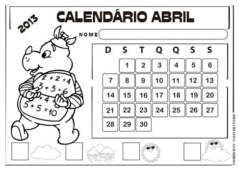 calendário abril 2013 paisagem sítio do pica pau amarelo