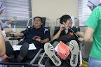 芙中副董事长也来捐血