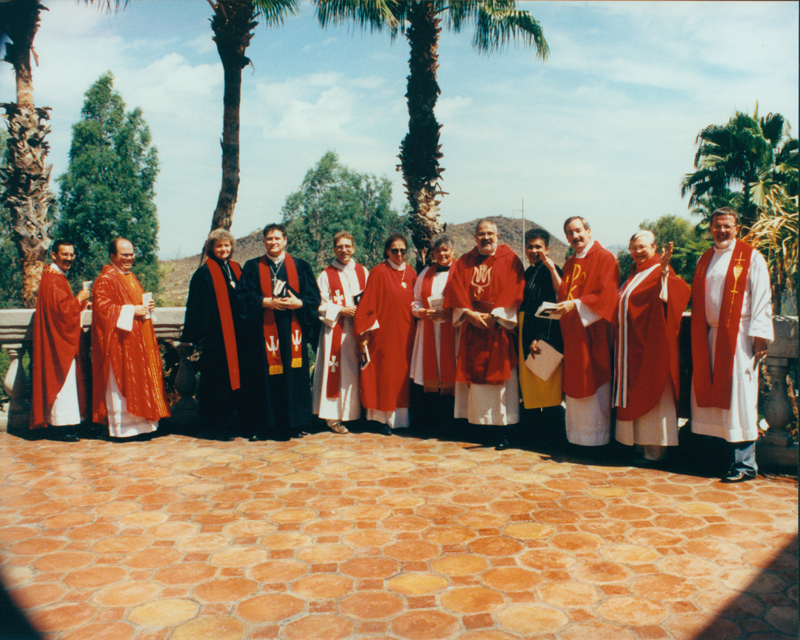 Metropolitan Community Church (MCC) leaders at the MCC general conference. Circa 1991-1993.
