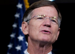Rep. Lamar Smith (R-Texas) is the chair of the Science Committee, but he denies the overwhelming scientific consensus on man-made climate change. thinkprogress.org