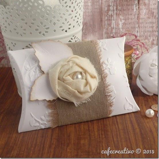 cafecreativo - pillow box - shabby chic - scatolina bomboniera portaconfetti - matrimonio