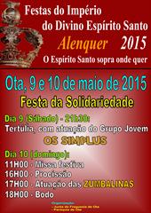 (Festas Imp. Esp. Santo 2015) Festa Solidariedade - Ota