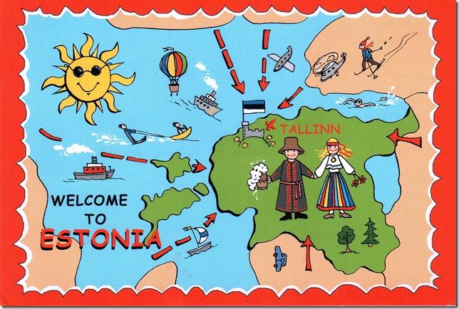 fun mapcard of Estonia