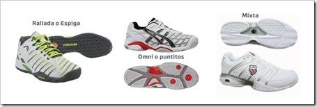Pistas y zapatillas específicas para pádel.