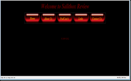 web page screenshot