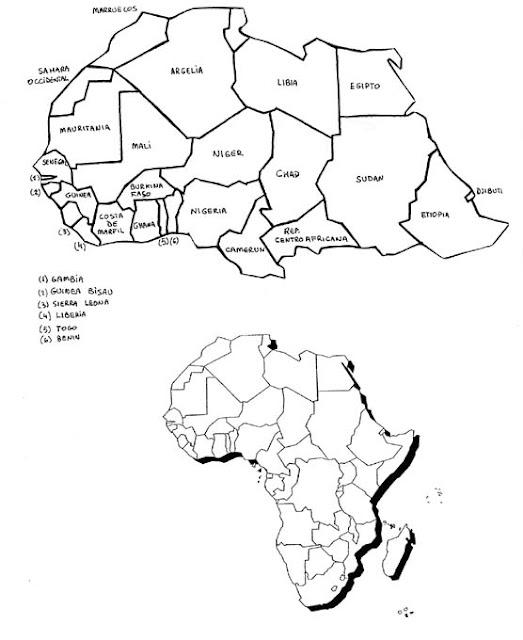 africa map coloring pages - photo#30