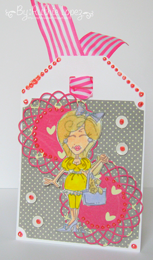 Tag - Dottie Dorothy - Bugaboo digital stamps - Wizard of Oz - Ruthie Lopez DT - Latinas Arts and Crafts 2