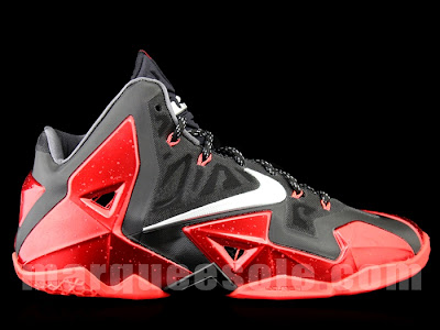 nike lebron 11 ss black red 3 01 Detailed Look at Nike LeBron XI (11) Black and Red Heat