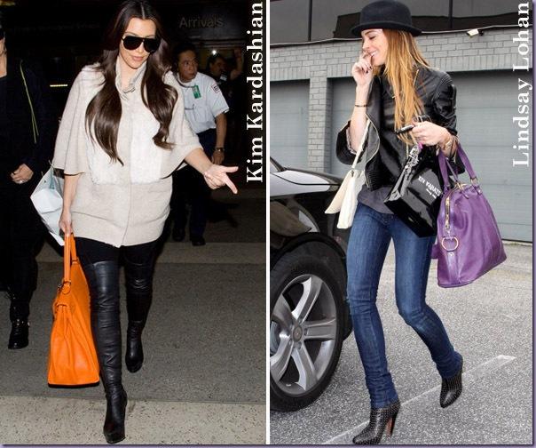 Bolsas-Coloridas-Laranja-Roxo-Kim-Kardashian-Lindsay-Lohan