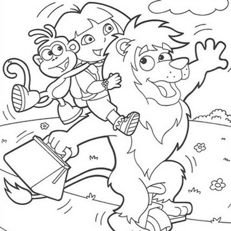 Desenho Dora a aventureira Passeando