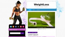 Weightloss blogger template 225x128
