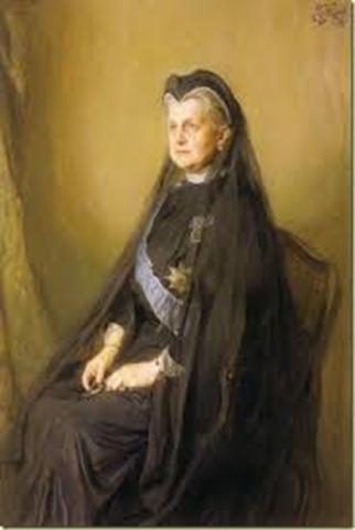 Un retrato de la reina Olga de Grecia