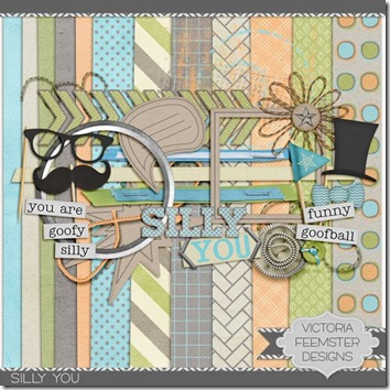 mustache free digiscrap kit