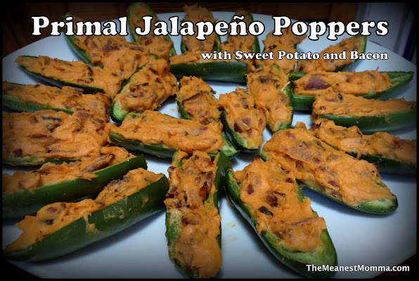 Primal Jalapeño Poppers with Bacon & Sweet Potato