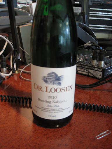 Dr. Loosen Reisling from Mosel, Germany.