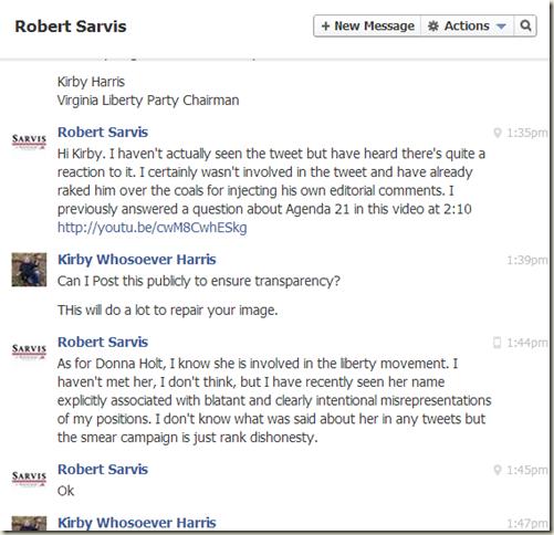 sarvis response to me