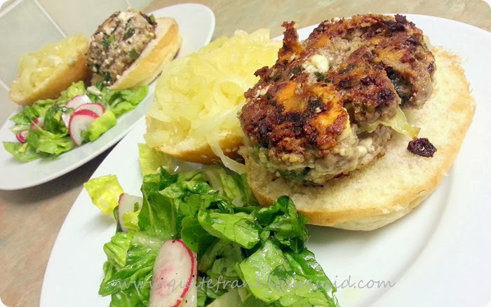 Hello Fresh Minted Lamb and Feta Burgers crunchy salad