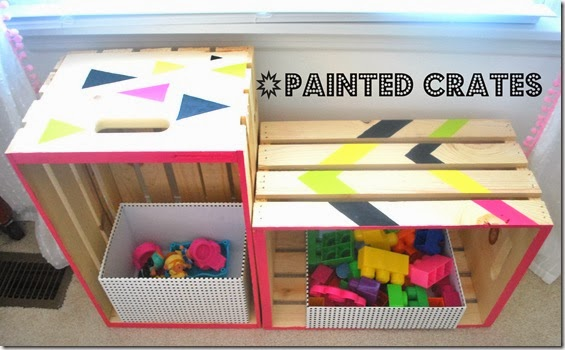 painted crates