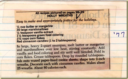 Holly Wreaths Recipe