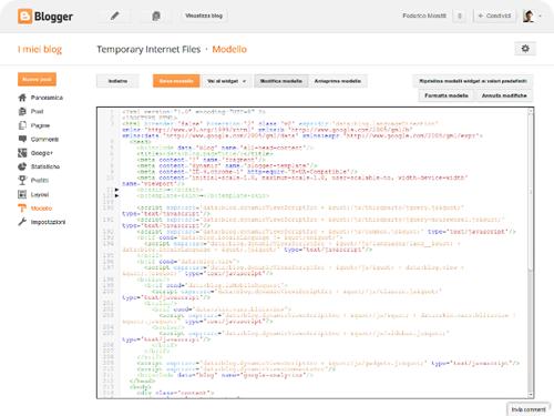 blogger modello html