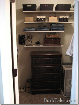 This closet is so off-balance...