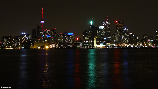 Toronto skyline by night in Toronto, Ontario, Canada