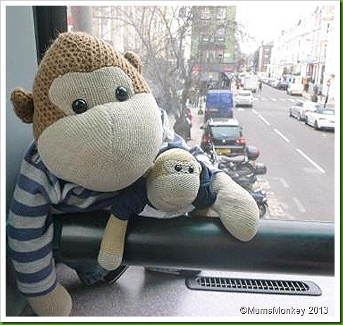 Upstairs on London Bus