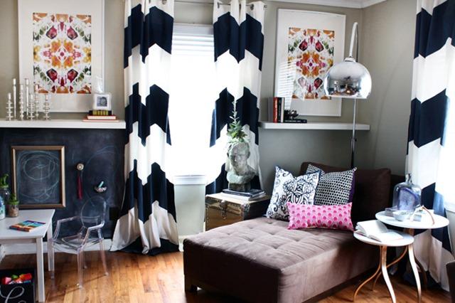 Narrow living room via the Hunted Interior