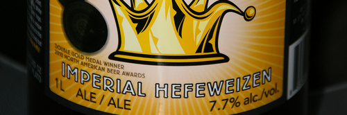 image of King Heffy Imperial Hefeweizen courtesy of Stephen Dyrgas' Flickr page