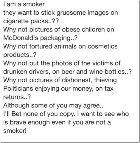 I am a smoker