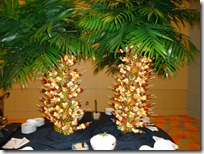 Fruit-ka-bob trees at Ancestry.com VIP reception