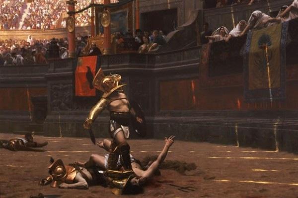 Gladiador no Coliseu