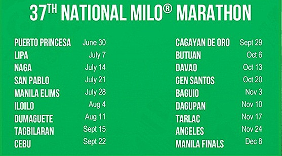 race-shedules 37th Milo Marathon
