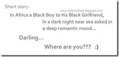 funny images for facebook In Africa a Black Boy to his Black Girlfriend,