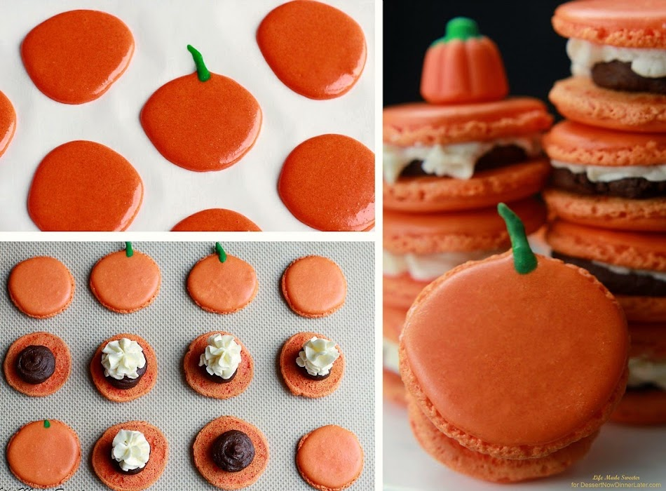 Triple Pumpkin Spiced Macarons with Pumpkin Ganache and Buttercream Frosting from @LifeMadeSweeter.jpg