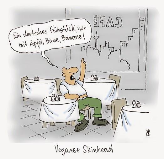 Veganer Skinhead Deutsches Frühstück Graf von Blickensdorf