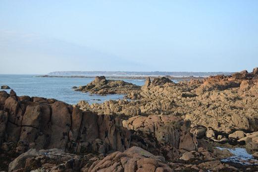 Jersey's rocky coast
