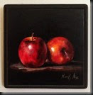 Red Apples. Wood 7x7x1_2