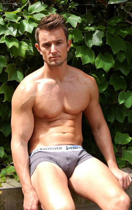 gray navy diver briefs