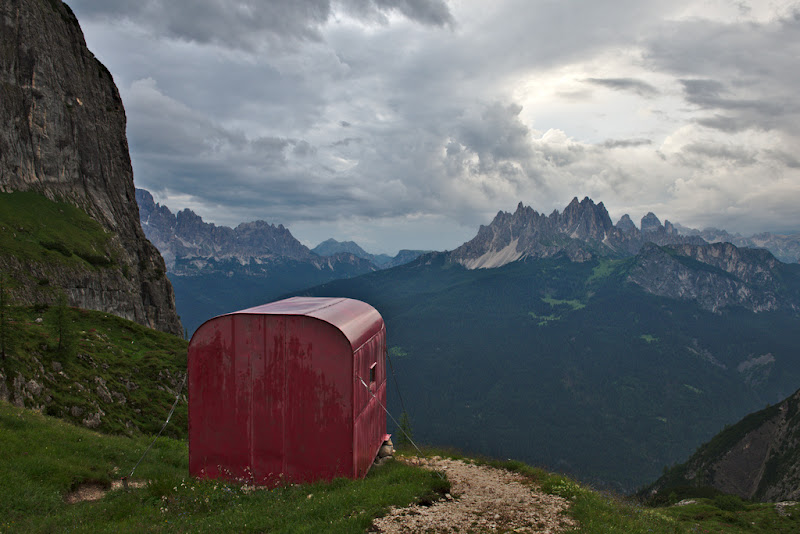 The perfect view after a summer storm, near the Musatti bivouac in Marmarole in the Dolomites.