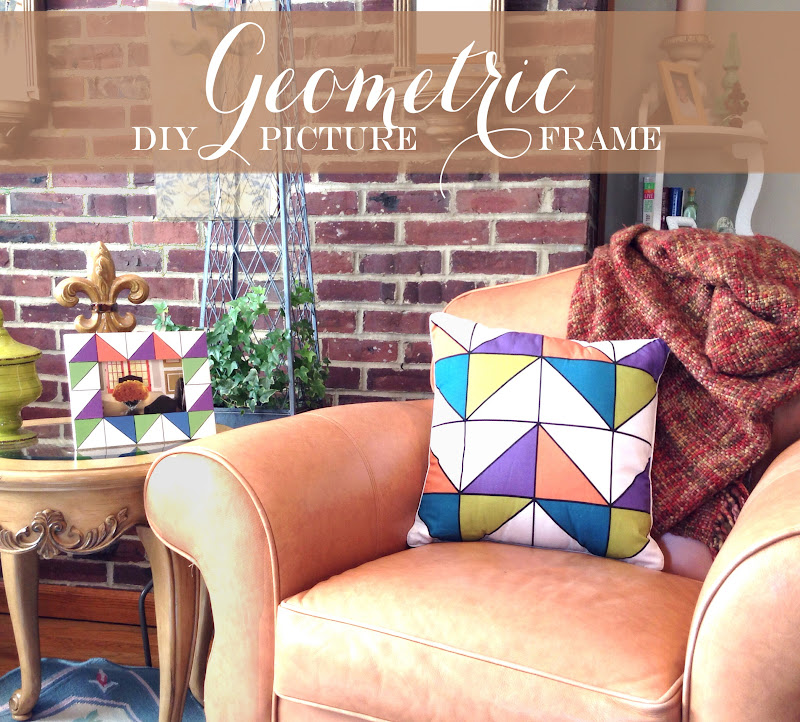 geometric faceted picture photo frame
