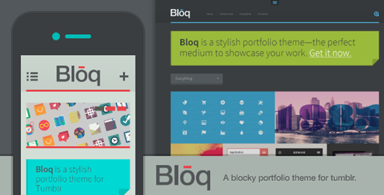 bloq tumblr grid portfolio