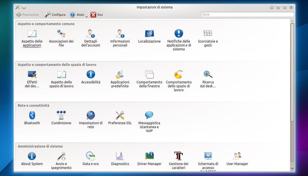 Kubuntu 14.04 - Impostazioni di Sistema