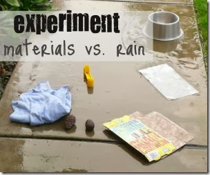 Rain Effect on Different Materials from A Mom with a Lesson Plan