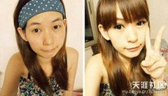 chinese girls makeup before and after  (20)
