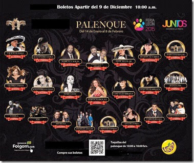 Venta de boletos Palenque Feria de Leon 2015 cartelera de conciertos